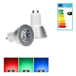 LED-Spot RGB GU10 3W