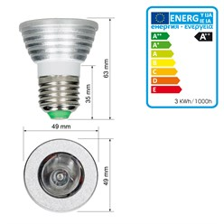 LED Spot E27 3 Watt RGB