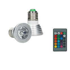 LED-Spot E27, RGB, 3W mit Fernbedienung