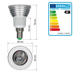 LED Spot E14 3 Watt RGB