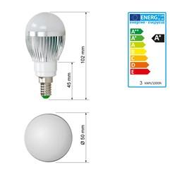 LED-Birne E14, RGB, 3W mit Fernbedienung