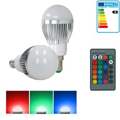 1 x LED-Birne RGB E14 3W + LED-338
