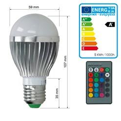 LED Birne E27 5 Watt RGB