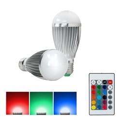 LED Birne E27 9 Watt RGB