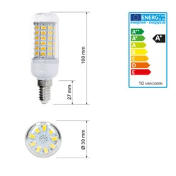 LED Kolbenlampe E14 10 Watt warmweiß