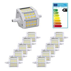 10 x LED R7S 5W Warmweiß 78mm SMD5730 dimmbar