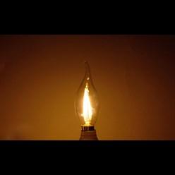 LED-Lampe Windstoß Kerze Filament E14 2W Warmweiß