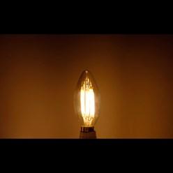 LED-Lampe Kerze Filament E14 4W Warmweiß