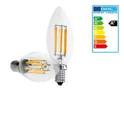 12 x LED Lampe Kerze Filament E14 6W Warmweiß