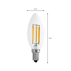 4 x LED Lampe Kerze Filament E14 6W Warmweiß