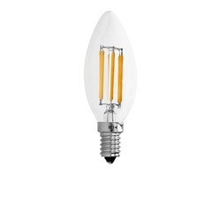 10 x LED Lampe Kerze Filament E14 6W Warmweiß