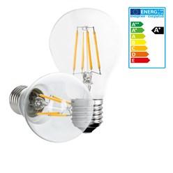LED-Lampe Birne Filament E27 4W Warmweiß