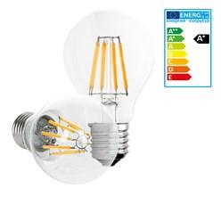 LED-Lampe Birne Filament E27 8W Warmweiß