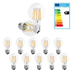 10 x LED Lampe Birne Filament E27 10W Warmweiß