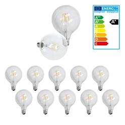 10 x LED Lampe Birne groß Filament E27 4W 125 mm Warmweiß