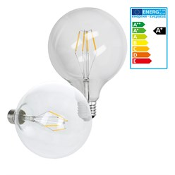12 x LED Lampe Birne groß Filament E27 4W 125 mm Warmweiß