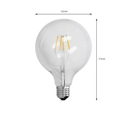 4 x LED Lampe Birne groß Filament E27 4W 125 mm Warmweiß