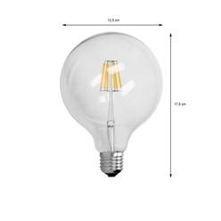 2 x LED-Lampe Birne groß Filament E27 6W 125mm WW