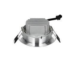 ECD Germany 1 x LED Spot COB 3W 180 Lumens aluminium argent angle d'environ 30 ° - 60 ° AC 220-240 reste caché et remplace 15W ampoule de plafond 2800K blanc chaud