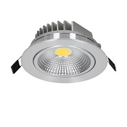 ECD Germany 1 x LED Spot COB 5W 180 Lumens aluminium argent angle d'environ 30 ° - 60 ° AC 220-240 reste caché et remplace 25W ampoule de plafond 4000K blanc neutre