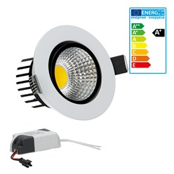 LED Reflektor-Einbauspot 3 Watt Ausf. COB Aluminium weiß schwenkbar neutralweiß