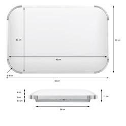 LED Wand- und Deckenleuchte 65 x 92 cm 96 Watt kaltweiß