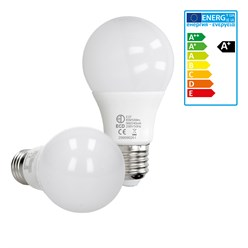 LED-Birne E27, Kaltweiß, 9W