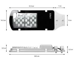 LED-Straßenlampe 24W , Warmweiß, wasserfest