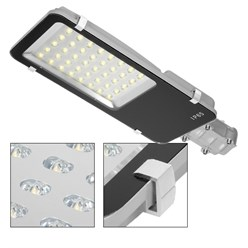 40W LED eclairage route rue chemin voiture parking lampe jardin blanc chaud