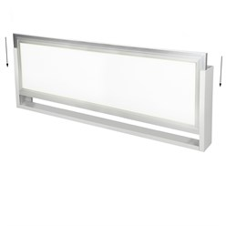 LED Panel Rahmen 120 x30 cm