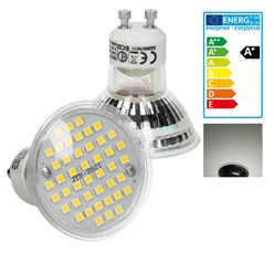 LED Lampe GU10 44 SMD Spot 3W Neutrakweiß