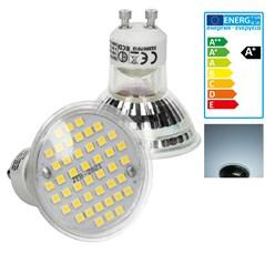 LED-Spot GU10, Kaltweiß, 3W