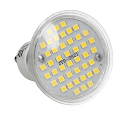 LED Spot GU10 44SMD Glas 3W Kaltweiß