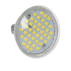 5 x LED Spot MR16 44 SMD 3W aus Glas Warmweiß 3000K