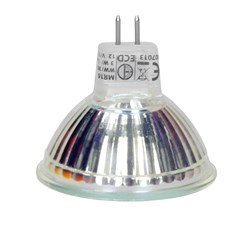 LED Spot MR16 44 SMD 3W aus Glas Warmweiß