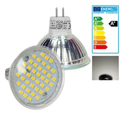 LED Spot MR16 44SMD Glas 3W Neutralweiß