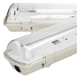 LED Lampenhalterung IP65 Leuchtstoffröhre 2 x 60 cm