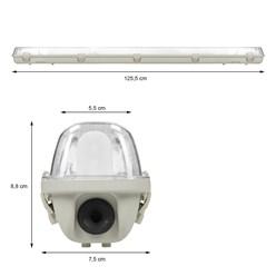 LED-Feuchtraumleuchte 120 cm, wasserdicht, geeignet für T8