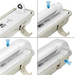 LED Lampenhalterung IP65 Leuchtstoffröhre 120 cm