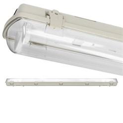LED Lampenhalterung IP65 Leuchtstoffröhre 2 x 120 cm