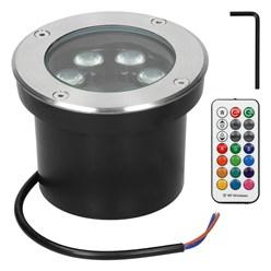 LED Bodeneinbaustrahler RGBW 5W 230V rund Edelstahl IP67