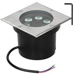 LED Bodeneinbaustrahler 5W Kaltweiß 6500K 230V eckig Edelstahl IP67