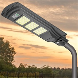 LED Solar Straßenlampe 60W Kaltweiß Wasserdicht IP65