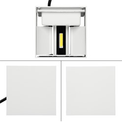 LED Wall Lamp with White Body 6W