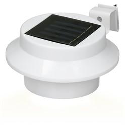 LED Solar Dachrinnenleuchte 3LEDs Kaltweiß Weiß IP44 für Außen
