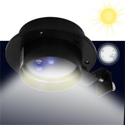 LED Solar Dachrinnenleuchte 3LEDs Kaltweiß Schwarz IP44 für Außen