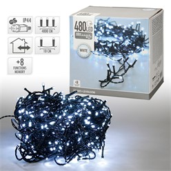 Chaîne lumineuse LED 48 m, blanche, 480 LED