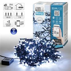 Chaîne lumineuse LED 8 m, blanche, 400 LED