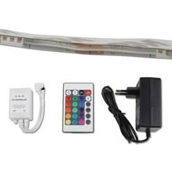 LED RGB SMD Stripe Wasserfest +24 Tasten +Netzteil
