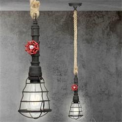 Hängelampe 1 flammige E27 mit 4W LED-Lampe, Schwarz
